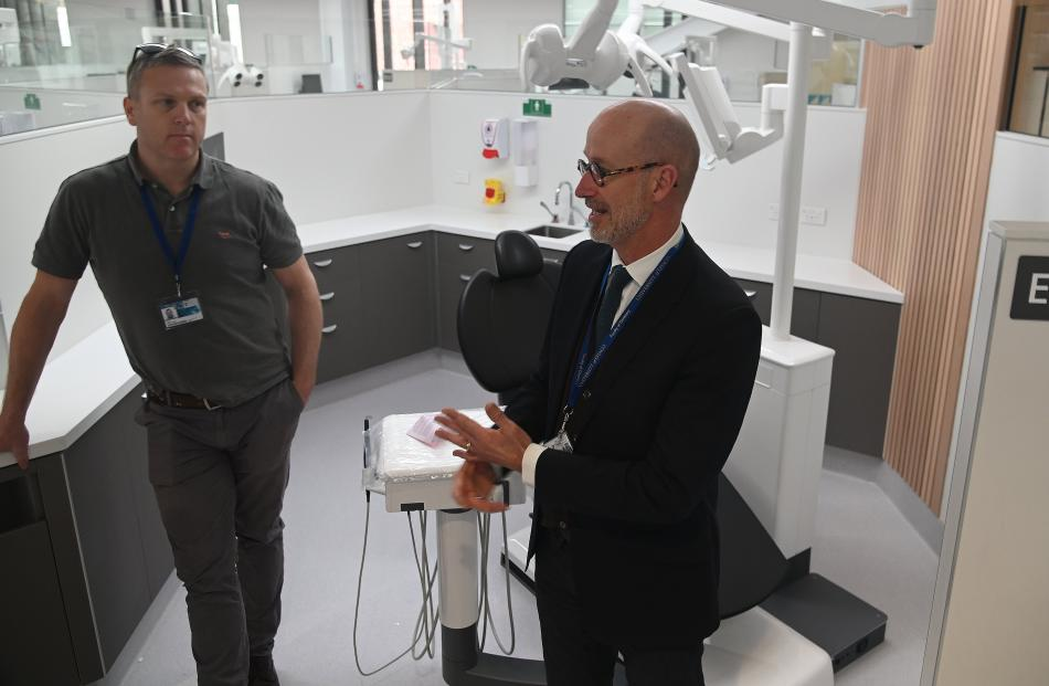 Project director Jamie Cargill (left), with Faculty of Dentistry organisational delivery project...