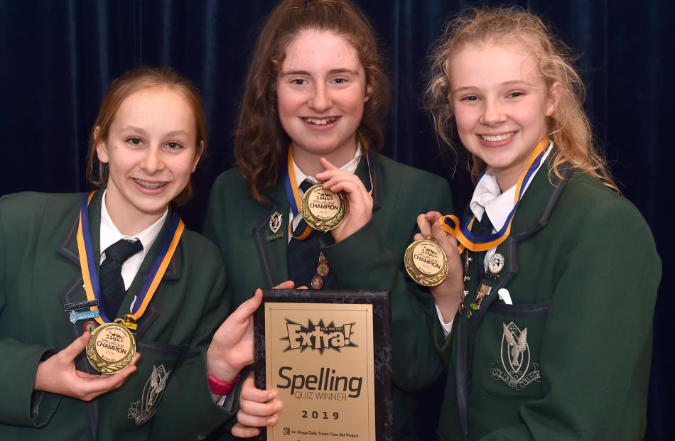 Columba College teams sweep top three places | Otago Daily