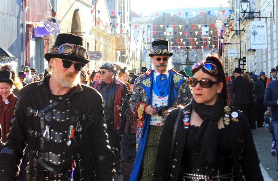 Oamaru's historic Harbour St is filled with steampunk attitude on Saturday. Oamaru's steampunk...