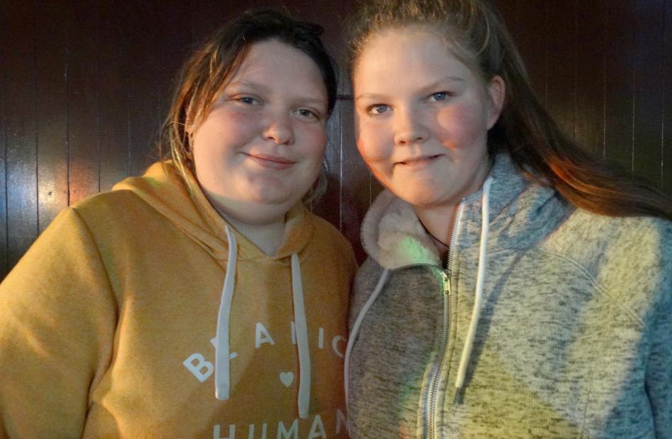 Olivia Muir (16), of Waimate, and Anthea Gosling (16), of Oamaru.