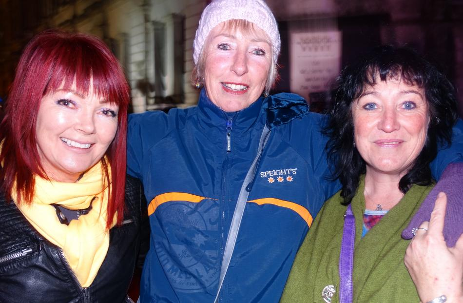 Sharon Murcott, Christine McAndrew and Shevaun Thomas, all of Oamaru.