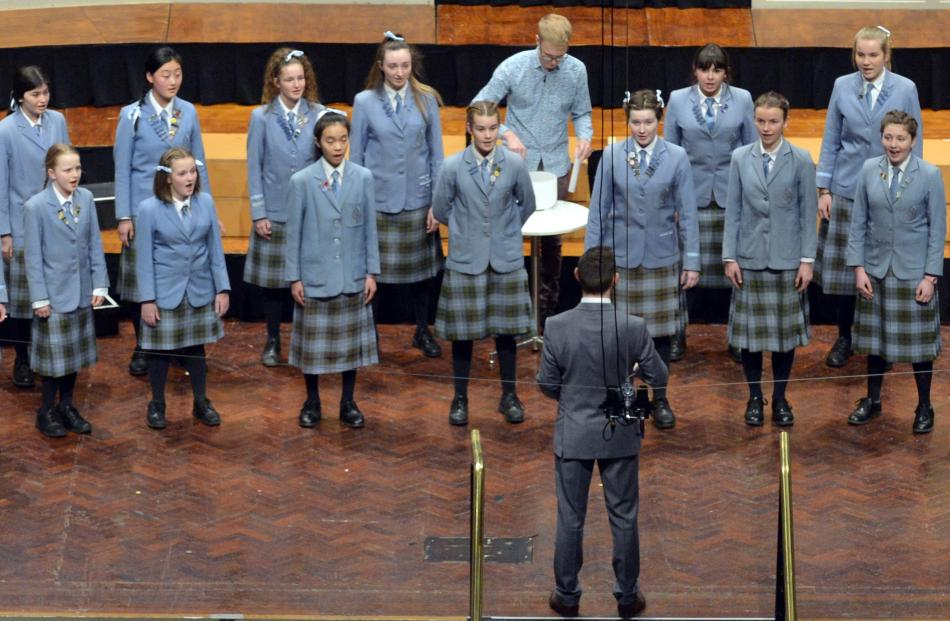 Sings Hilda ( St Hilda's Collegiate School ) perform during the Big Sing at the Dunedin Town Hall...