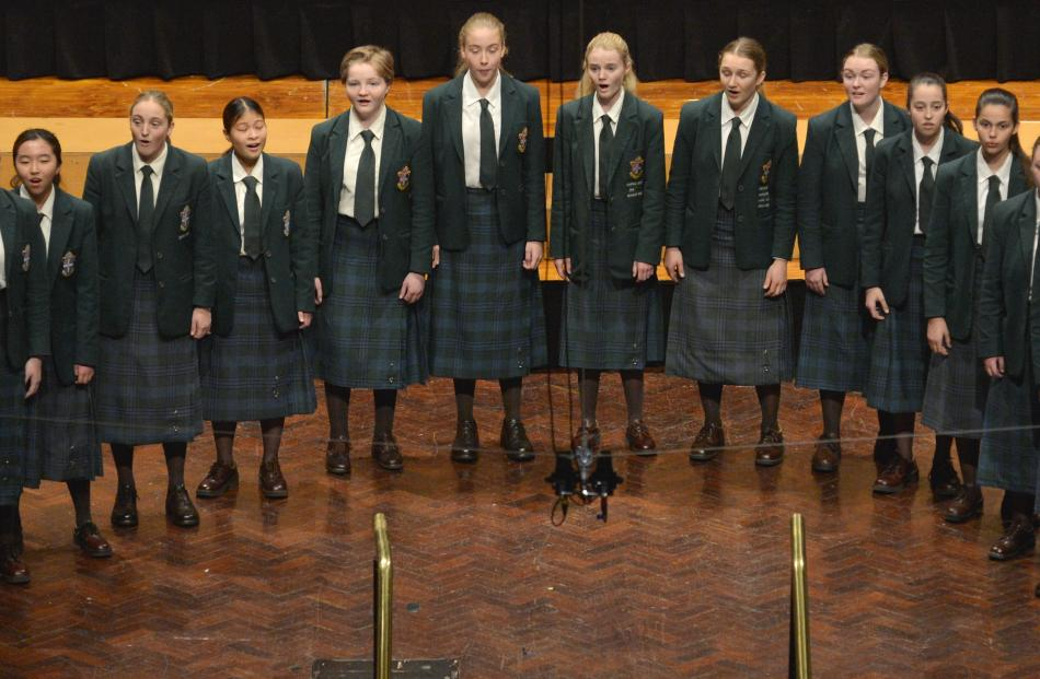 Craighead Chorale ( Craighead Diocesan School ) perform during the Big Sing at the Dunedin Town...