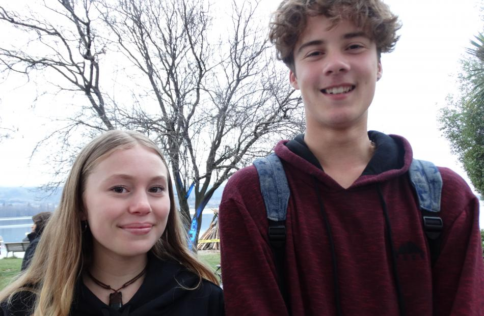 Vale Roberts (15), of Whangarei, and Taki McLachlan (16), of Makarora.