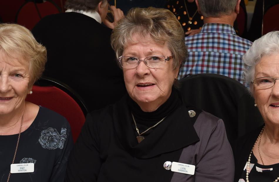 Pat Winton, Lyn Dawson and Gaye Scott, all of Dunedin.