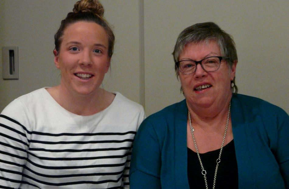 Abby Erwood and Janet Templeton, both of Waitahuna West.