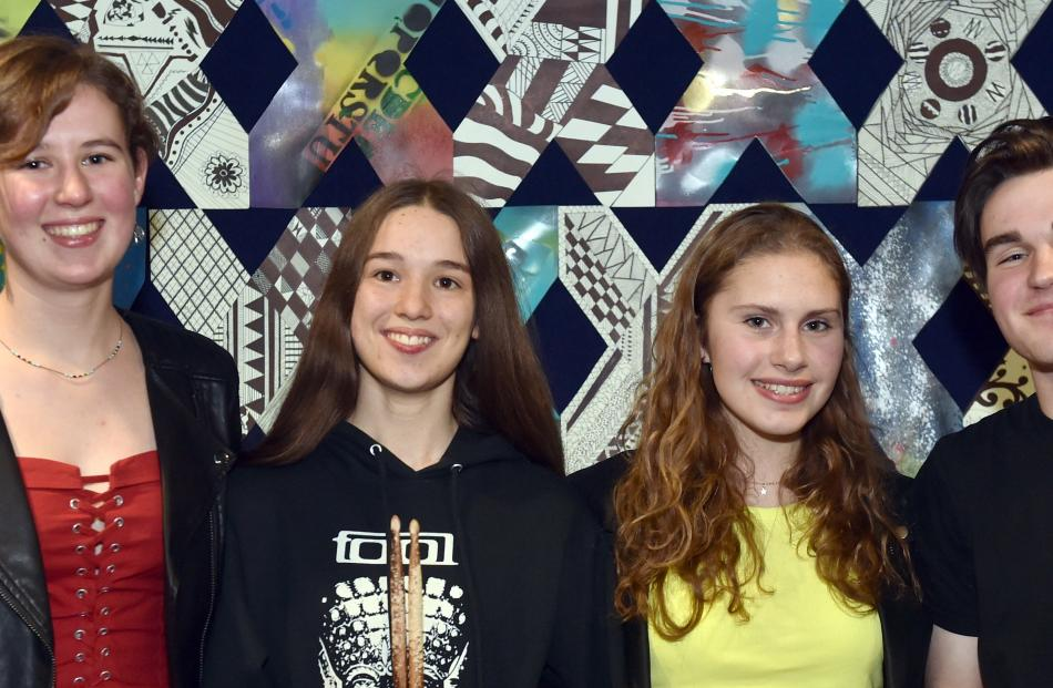 Rebecca Dalphin (16), Amelia Ross (16), Samantha Lawrence (15) and Michael Stephenson (16), all...