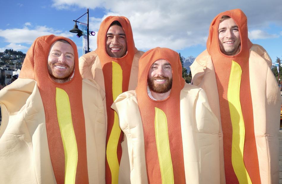Dodgeball team Skilli Sausages: Paul Skyllas, Pat Morales, Jason Skyllas and James Pearce, all of...