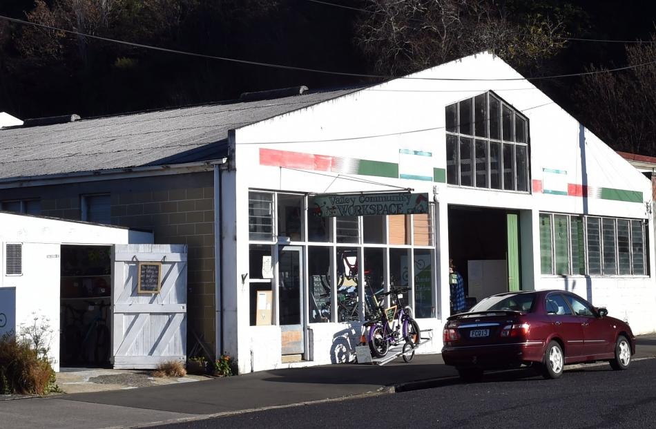 The unassuming Valley Community Workspace building on Allen St, North East Valley. A but like the...