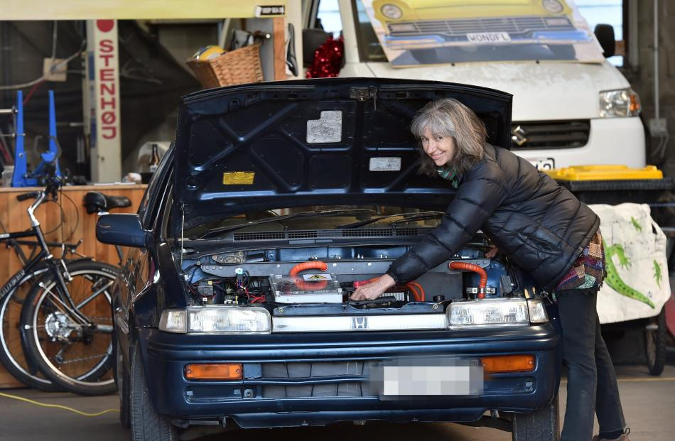 Rosemary Penwarden has used the workspace in the process of converting her 1993 Honda City to...