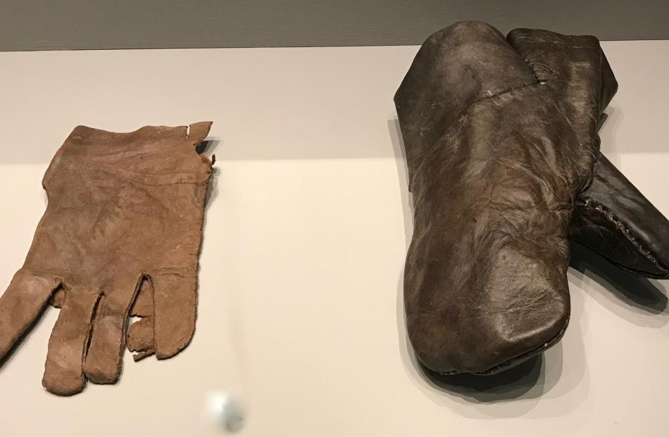 The glove on the left is at least 600 years old; the one on the right 500. Photos: Gillian Vine
