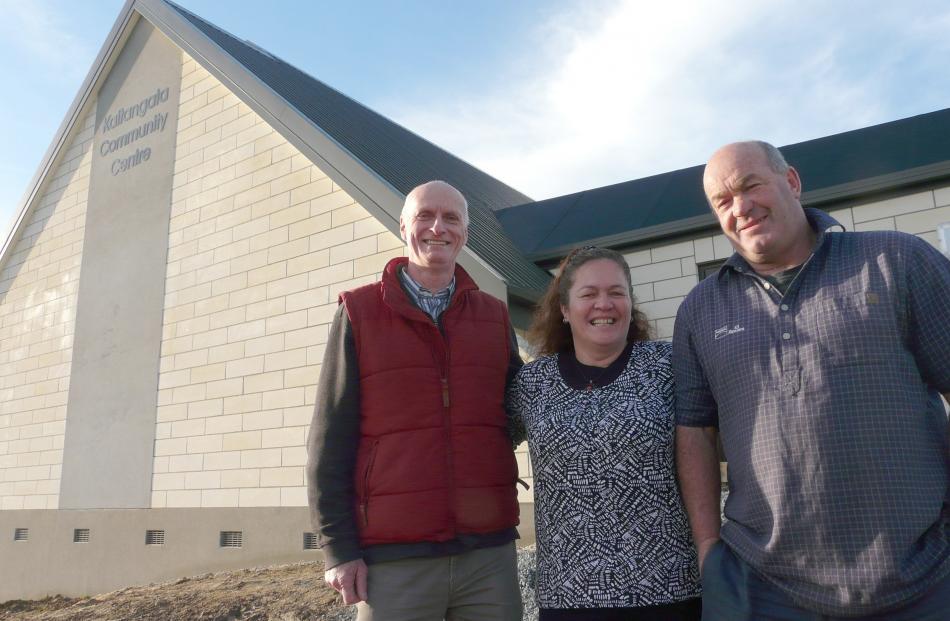 Kaitangata Community Centre Charitable Trust members (from left) Alex McLaughlin, Debbie Ferguson...