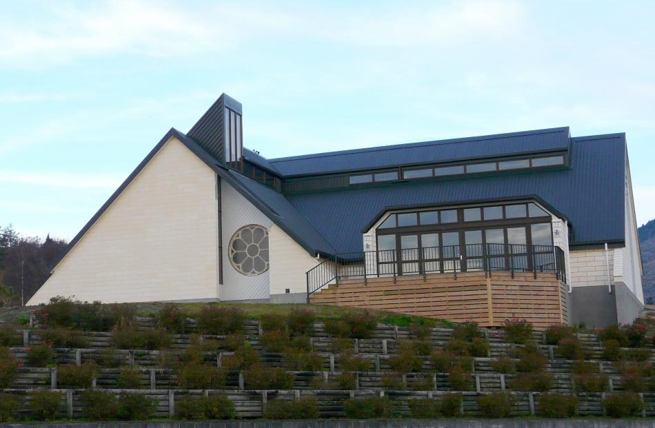Kaitangata's new community centre adjoins the town's Presbyterian Church.