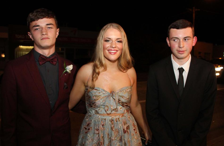 Ben Hutton (16), Annabelle Philps (17) and Patrick Norman (16).