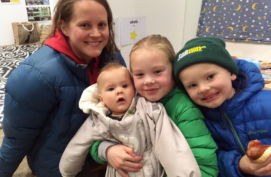 Elina, Onni (7 months), Elli (7) and Oiva (6) Kiuru, of Clyde.