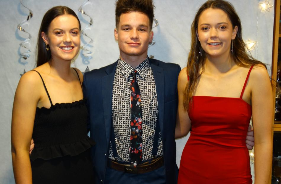 Alex Innes, Frano Flannery and Suzie Innes (all 17), of Oamaru.
