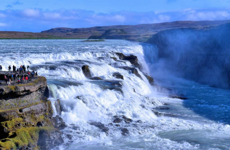 Gullfoss falls, a highlight of Central Iceland.