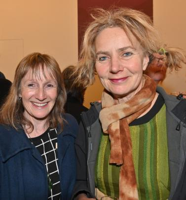 Nicky Page and artist Madeleine Child, both of Dunedin.