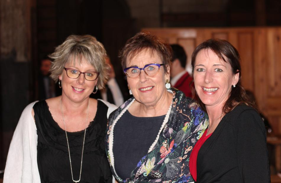 Rebecca, Jan and Katrina Selfe, all of Oamaru.