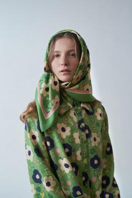 Rosebud scarf by Kate Sylvester.