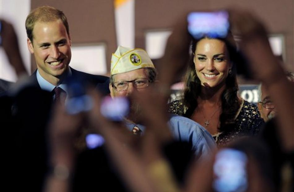 The Duke and Duchess of Cambridge mingle with crowd members at the Service Nation: Mission Serve ...