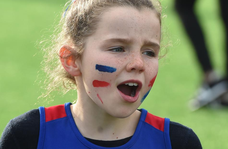Arrowtown School pupil Andie Clarke (8) is a vocal supporter of her team.