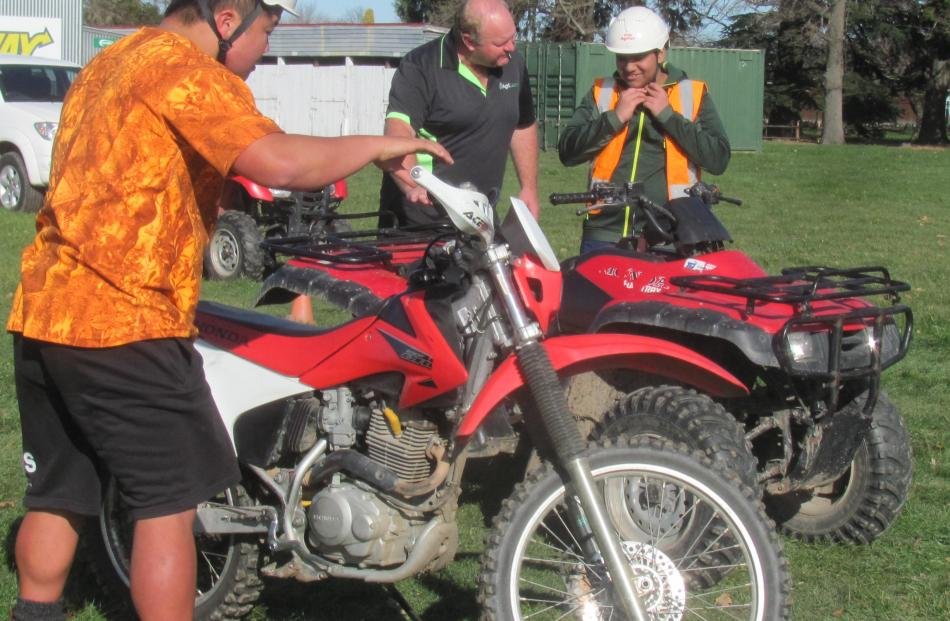 Health and safety is a big part of the training for quad bike and motorcycle use on farms.