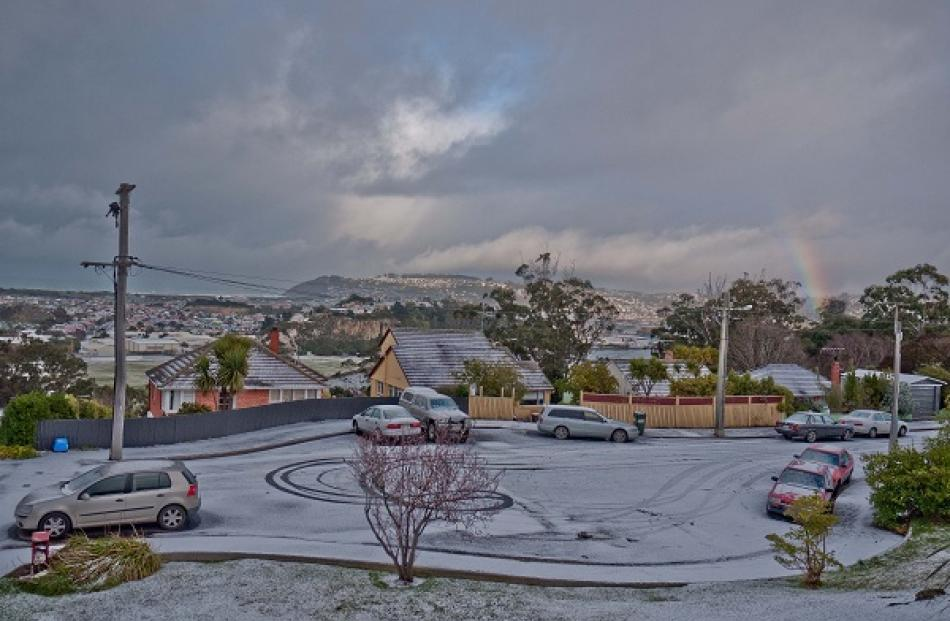 Looking out from Waverley in Dunedin this morning. Photo Aaron Hall