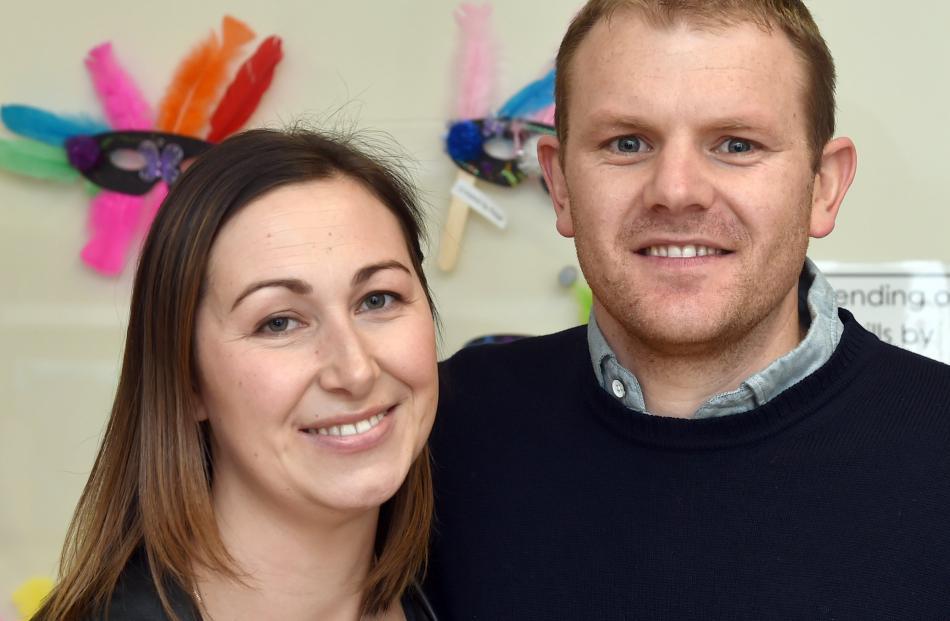 Erin and Sam Lewis, of Dunedin.