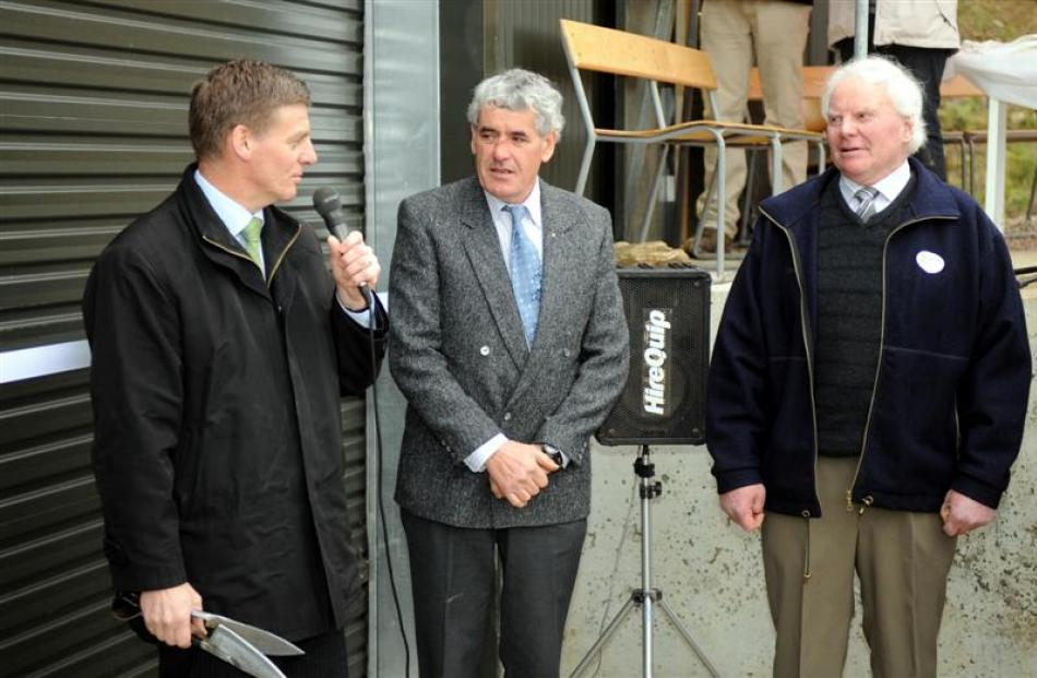 Deputy Prime Minister Bill English (left) pays tribute to the two families behind the scheme,...