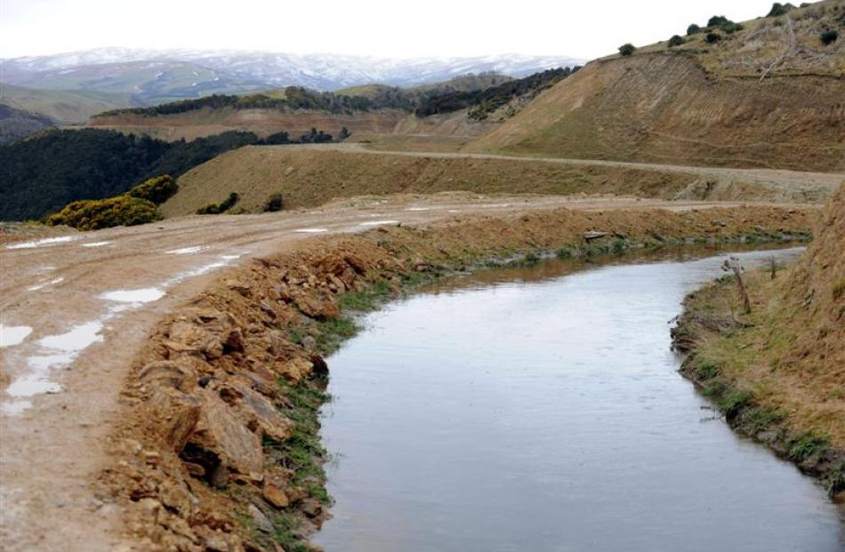The layout of the scheme closely follows that of a mining diversion and water race that was used...