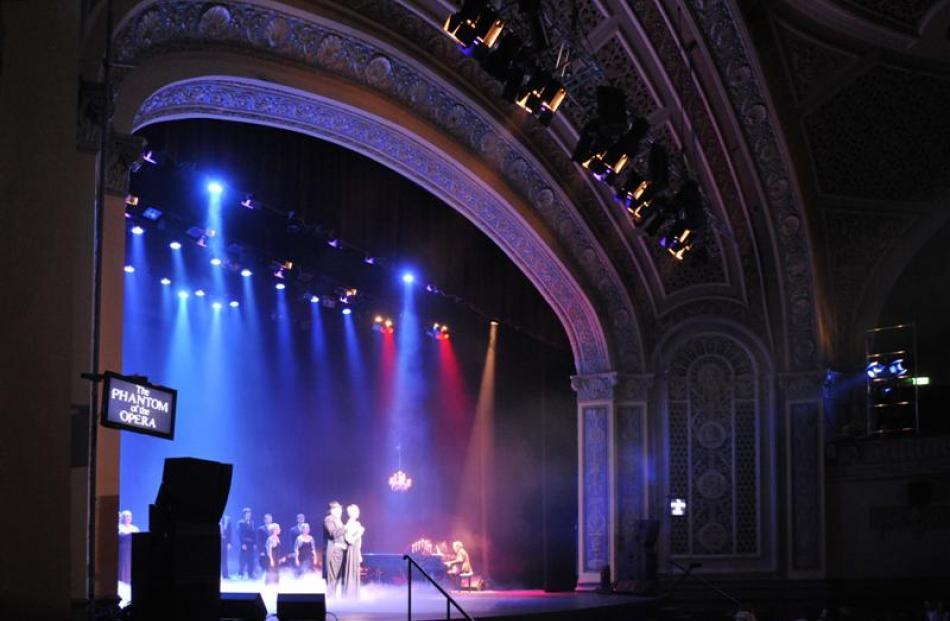 Theatre-goers enjoy the refurbished splendour of Dunedin's Regent Theatre during a special...