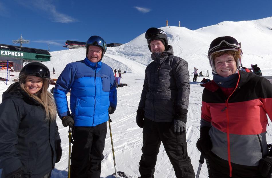 Nicola Soper, Colin Sharp, Jamie Soper and Liz Sharp, all of Wanaka.