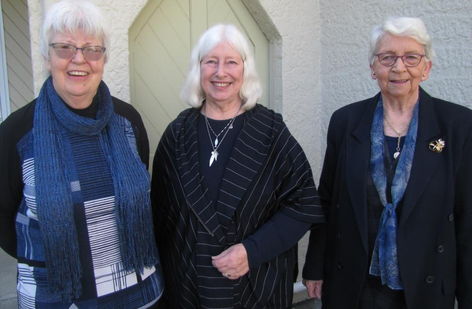 Kay Pringle, of Alexandra, the Rev Carol Grant, of Dunedin, and Dawn Becker, of Clyde.