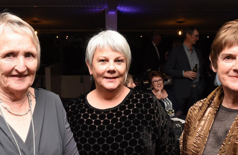 Sue Nichol, of Outram, Alison Kean, of Mosgiel, and Cathy Ferguson, of Outram.