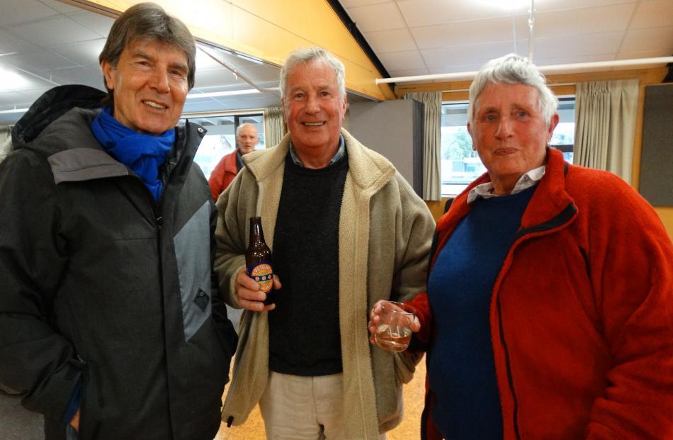 Bern Healy, Jim and Sue Adkins, all of Lake Hawea.