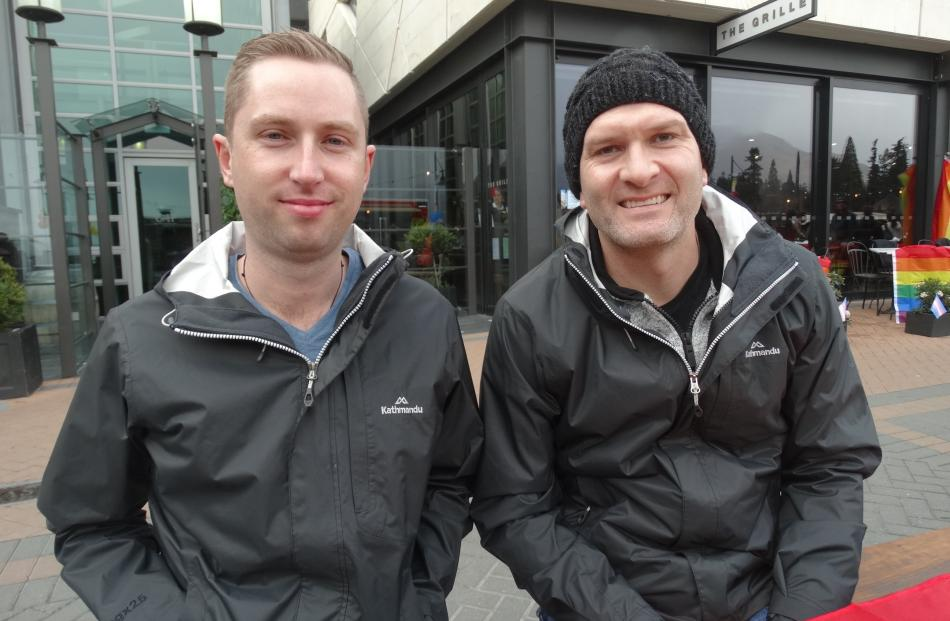 Aaron Bourne and Kent Phillips, both of Auckland.