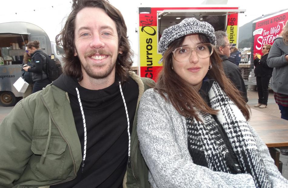 Alan Dougall, of Argentina, and Natalia Montero, of Uruguay.