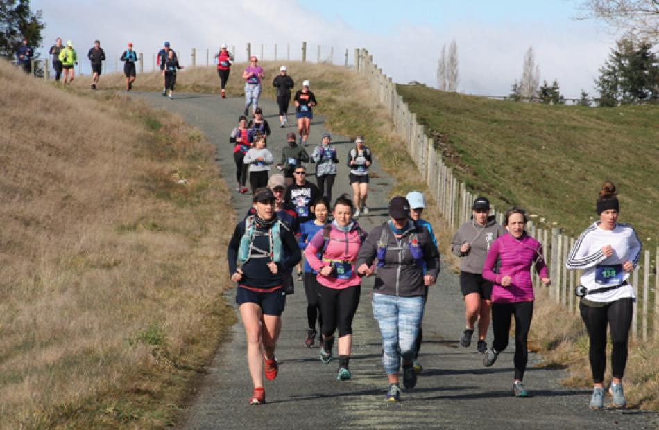 "Runners in the the inaugural Meridian Hydro Half Marathon on Fiordland's ""Lake2lake Trail"" coming..."