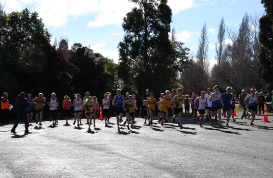 Start of the 2019 Southland Road Running Championsghips at the Boat Harbour, Te Anau.  Photo:...