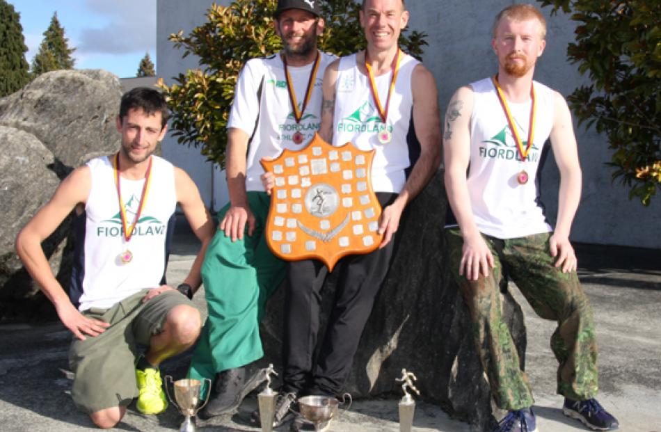 Southland senior men's team title went to Fiordland. Left to right - Richard Ford  (1st senior...