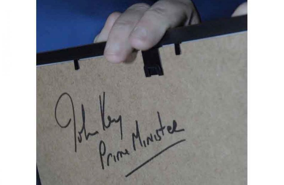 A prized autograph.