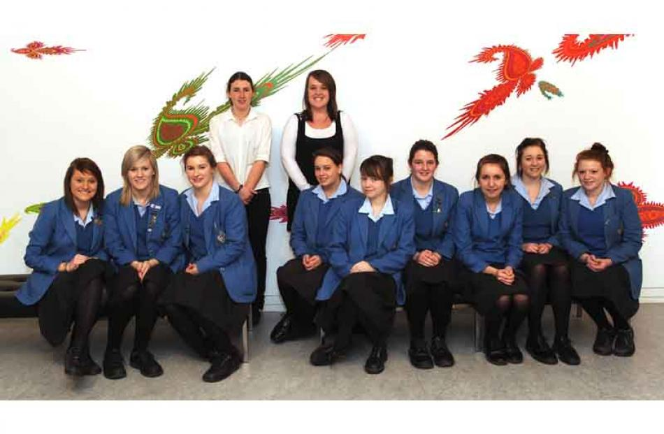 Queen's High school pupils who catered for the event.