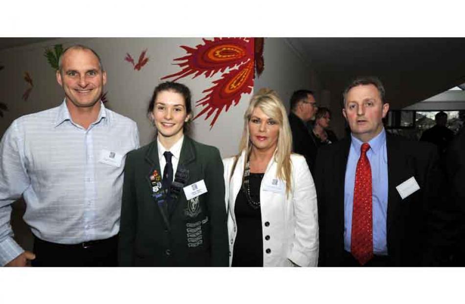 Lloyd and Sophie Napper, Chris and Neil Jones Sexton, of Dunedin.