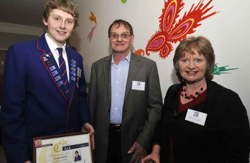 Brendan, Geoff and Teresa Austin, of Gore.
