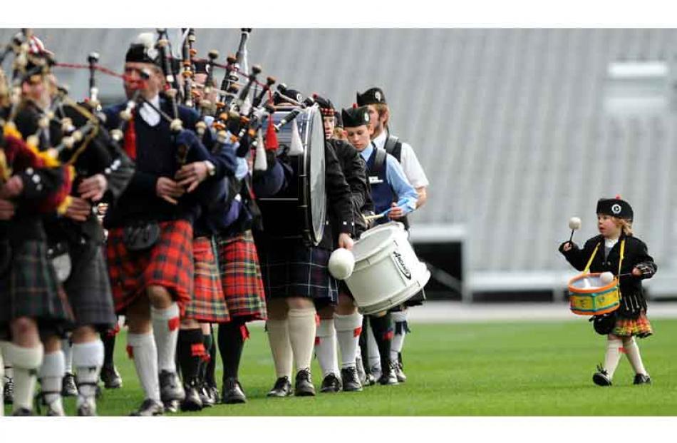 Kiera O'Neill [4] of Ranfurly with the Maniototo Highland Pipe Band.