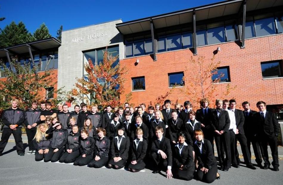 Last year there was a record intake of 68 students at Queenstown Resort College. Photo from ODT...