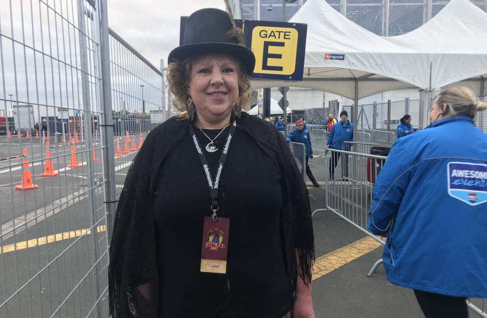 Carolyn Dick dressed up as her favourite band member Stevie Nicks. Photo: Daisy Hudson
