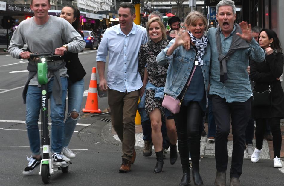 Punters in town ahead of Fleetwood Mac. Photo: Linda Robertson