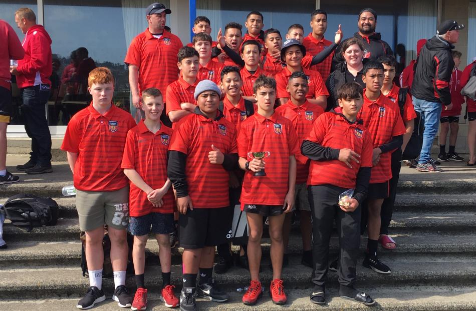 The Canterbury team which won the 14s boys grade. Photo: Supplied